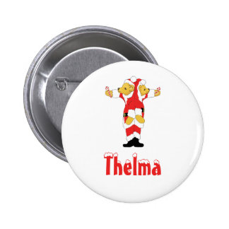 Your Name Here! Custom Letter T Teddy Bear Santas 2 Inch Round Button