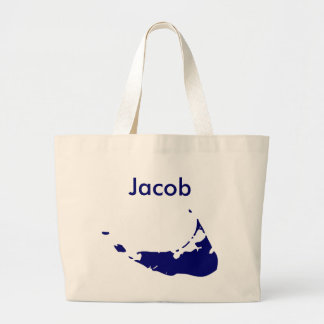 Your Name Here Nantucket Blue Large Tote Bag