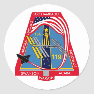 YOUR_NAME_HERE STS-119 Logo Round Sticker