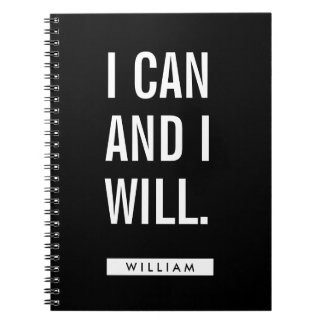 Your Name   I Can And I Will Notebook