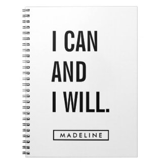 Your Name   I Can and I Will. Notebook