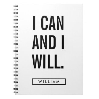 Your Name   I Can And I Will Notebooks