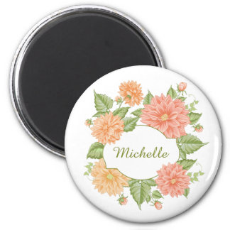 Your Name in a Flower Frame magnets