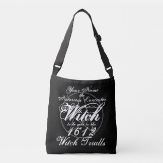 Your Name in Notorious Witch Trials Black Gothic Crossbody Bag