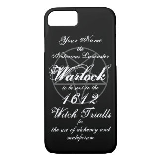 Your Name in Notorious Witch Trials Warlock Black Case-Mate iPhone Case