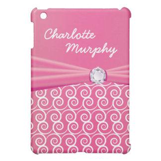 Your Name Jewel Silk Pink iPad Mini Case