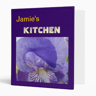 Your Name KITCHEN binder recipes Iris Flowers