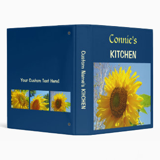 Your Name KITCHEN binders custom recipes Floral