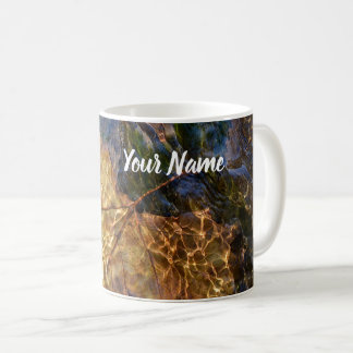 Your Name Leaf Floating Down Stream Art Coffee Mug