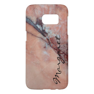 Your Name on Flawed Pink Marble Samsung Galaxy S7 Case