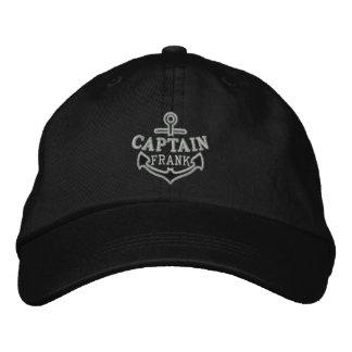 Your Name on Nautical Anchor Embroidery Captain Baseball Cap