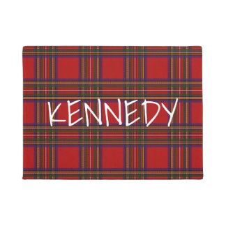 Your Name On Plaid Doormat