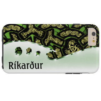 Your name on this dragon chain green and chrome tough iPhone 6 plus case