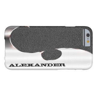 Your name on this handsome silver and grit barely there iPhone 6 case