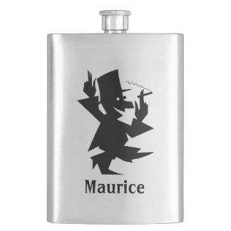 Your Name on this Man of the Evening Hip Flask
