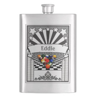 Your Name on this Pool Balls Flask