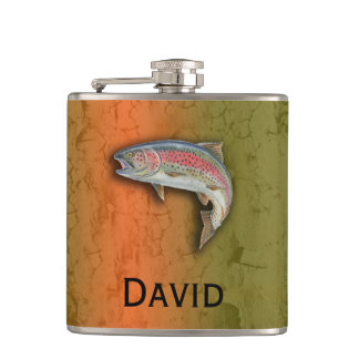 Your Name on this Rainbow Trout Flask