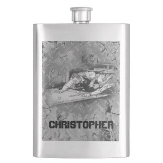 Your Name on this Retro Pool Players Flask