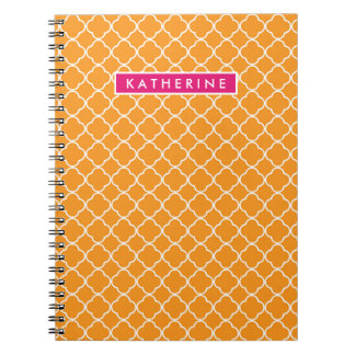 Your Name | Orange Trefoil Spiral Notebook
