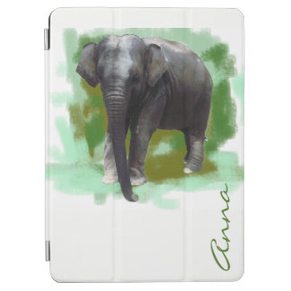 Your Name Photorealistic Painted Baby Elephant iPad Air Cover