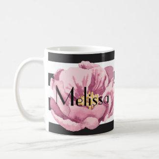 Your Name pink poppy Coffee Mug