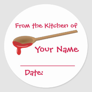 Your Name Preserves Jam Jelly Canning Lid Labels Round Sticker
