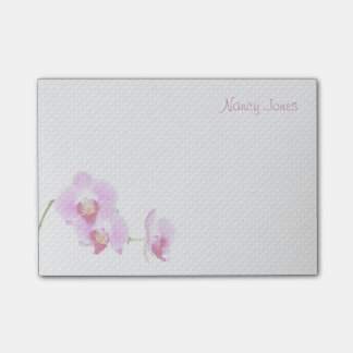 Your Name - Radiant Orchid Floral Photo Post-it Notes