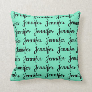 Your Name Reversible Throw Pillow CHOOSE The COLOR