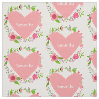 Your Name(s) in a Heart custom fabric