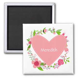 Your Name(s) in a Heart custom magnet