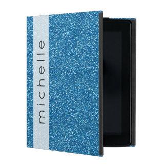 Your Name - Shiny Glitter, Glitter Glow - Blue iPad Case