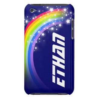 Your name short rainbow navy blue ipod case