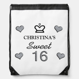 Your Name Sweet Sixteen In Diamonds Backpack