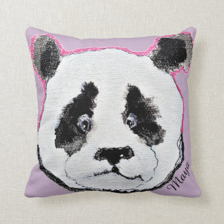your name tag pillow with panda