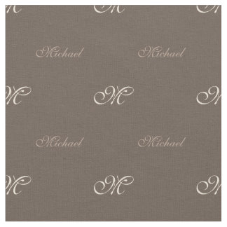 Your Name with Monogram Fabric