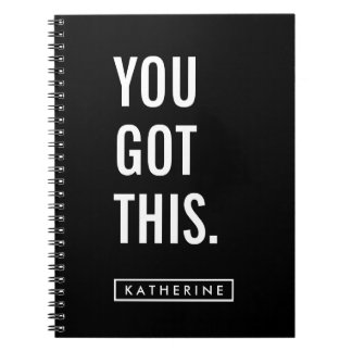 Your Name | You Got This Spiral Note Books