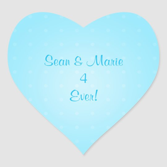 Your Names 4 Ever Heart Stickers - Blue