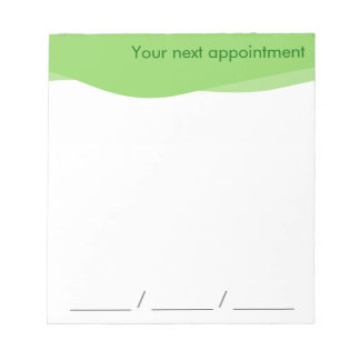 Your next appointment Notepad