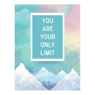 Your Only Limit Quote Postcard