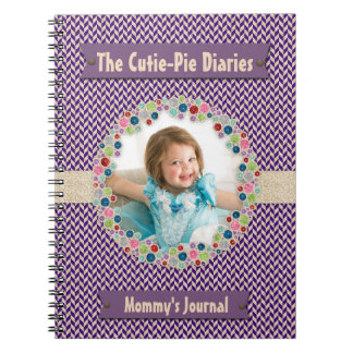 Your Own Photo Frame Monogram Mommy's Baby Diary Notebooks