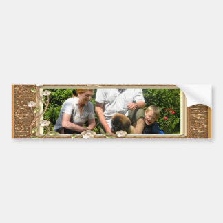 Your own photo in a Golden Flowers Frame - Bumper Stickers
