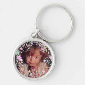 Your own photo starry frame keychain