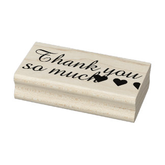 Your own Saying & Message: THANK YOU SO MUCH Rubber Stamp