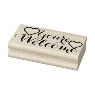 Your own Saying & Message: You're Welcome Rubber Stamp