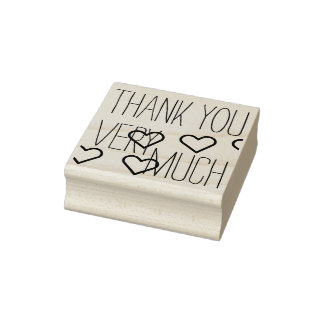 Your own Sayings & Messages: THANK YOU VERY MUCH Rubber Stamp