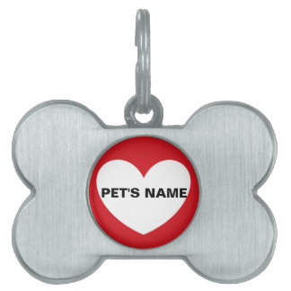 YOUR PET'S NAME pet tag by DAL