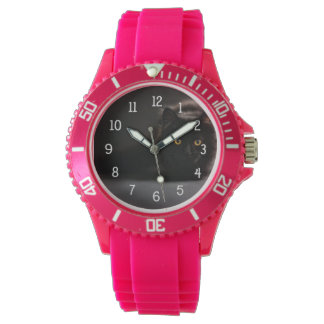 Your pet's photo watch with white clock face