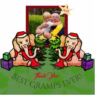 Your Photo Best Gramps Christmas Elephants Photo Sculpture Magnet
