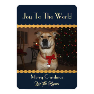 Your photo Christmas Add Image Template Blue Gold
