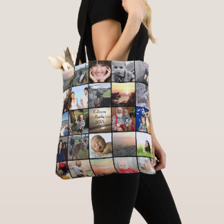 Your Photo Collage Pattern Tote Bag